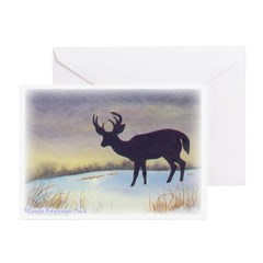 Sunset Deer Greeting Cards Text(Pk Of 20)