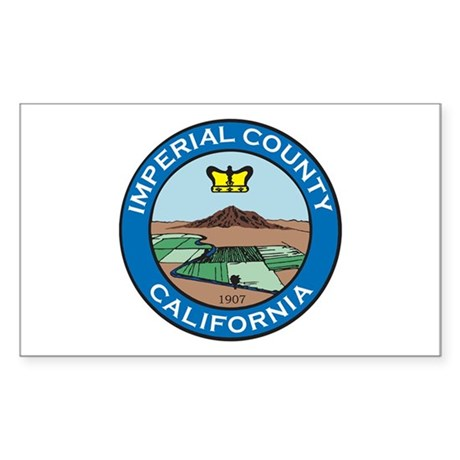 IMPERIAL-COUNTY-SEAL Rectangle Sticker