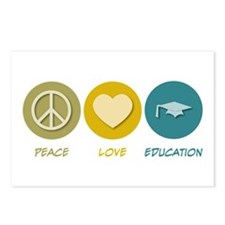 Peace Love Education Postcards (Package of 8)