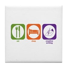Eat Sleep Creative Writing Tile Coaster