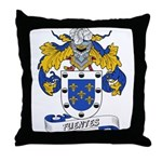 Fuentes Family Crest Throw Pillow