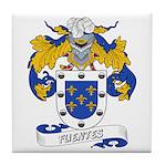 Fuentes Family Crest Tile Coaster