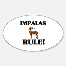 Impalas Rule! Oval Decal