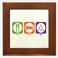 Eat Sleep CPA Framed Tile