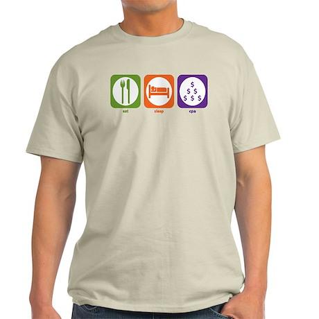 Eat Sleep CPA Light T-Shirt