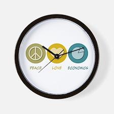 Peace Love Economics Wall Clock