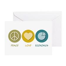Peace Love Economics Greeting Card