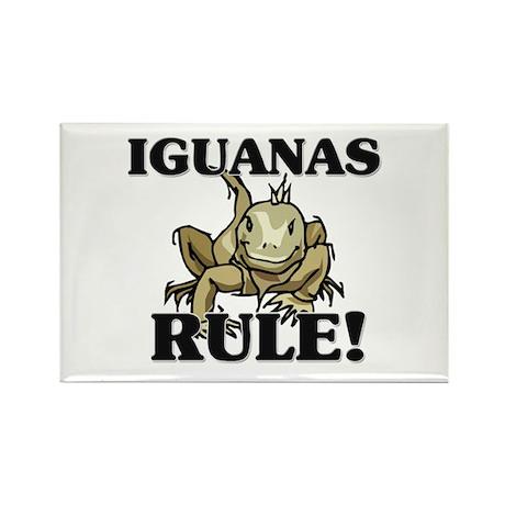 Iguanas Rule! Rectangle Magnet (10 pack)