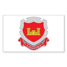 ENGINEERS-CORPS-INSIGNIA Rectangle Decal