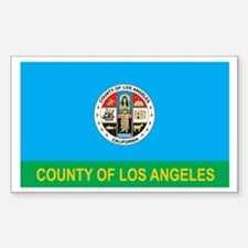 LOS-ANGELES-COUNTY Rectangle Decal