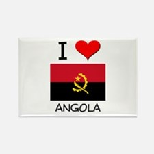 I Love Angola Rectangle Magnet