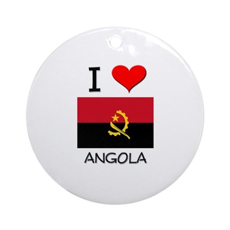 I Love Angola Ornament (Round)