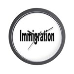 Immigration Wall Clock