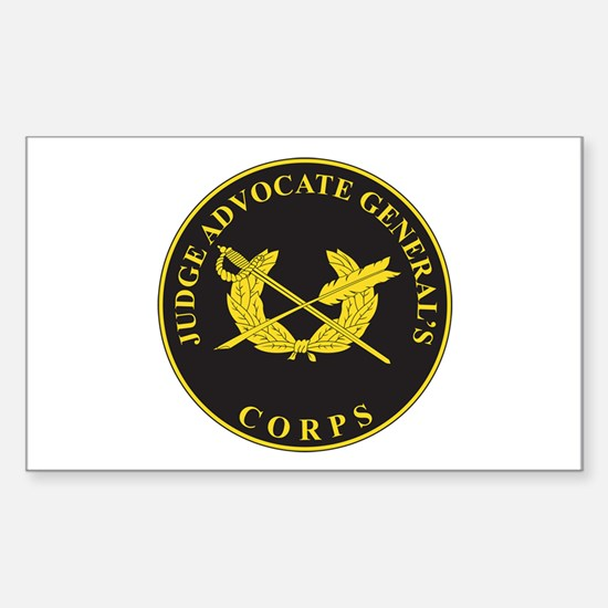 JUDGE-ADVOCATE-GENERAL Rectangle Decal