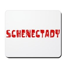 Schenectady Faded (Red) Mousepad