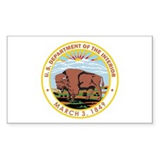 DEPARTMENT-OF-THE-INTERIOR- Rectangle Decal