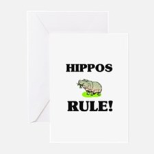 Hippos Rule! Greeting Cards (Pk of 10)