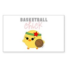Basketball Chick Rectangle Decal
