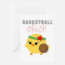 Basketball Chick Greeting Card