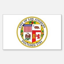 LOS-ANGELES-CITY-SEAL Rectangle Decal