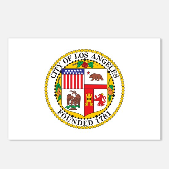 LOS-ANGELES-CITY-SEAL Postcards (Package of 8)