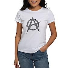 Anarchy Symbol (silver) Tee