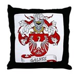 Galvez Family Crest Throw Pillow