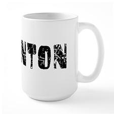 Edmonton Faded (Black) Ceramic Mugs