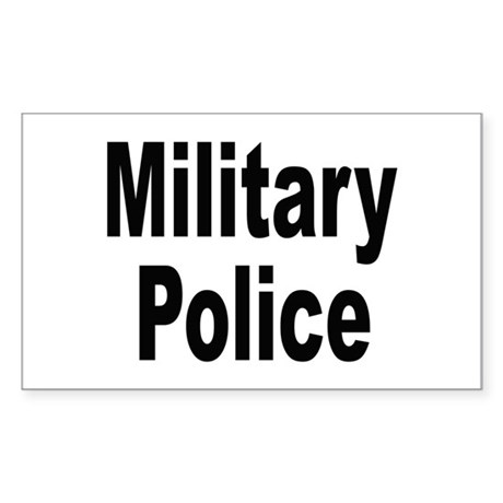 Military Police Rectangle Sticker