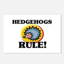Hedgehogs Rule! Postcards (Package of 8)