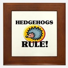 Hedgehogs Rule! Framed Tile