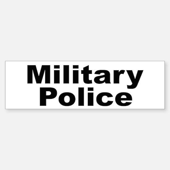 Military Police Bumper Car Car Sticker
