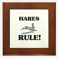 Hares Rule! Framed Tile