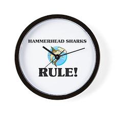 Hammerhead Sharks Rule! Wall Clock