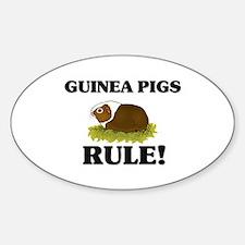 Guinea Pigs Rule! Oval Decal
