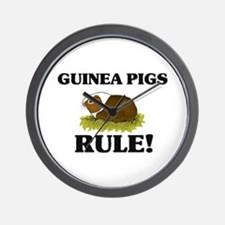 Guinea Pigs Rule! Wall Clock