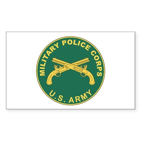 MILITARY-POLICE Rectangle Sticker