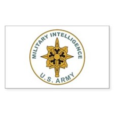 MILITARY-INTELLIGENCE Rectangle Decal