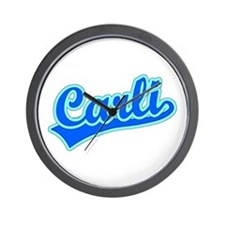 Retro Carli (Blue) Wall Clock