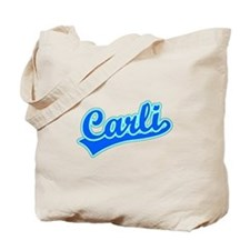 Retro Carli (Blue) Tote Bag