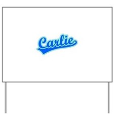 Retro Carlie (Blue) Yard Sign
