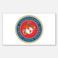 MARINE-CORPS-RESERVE Rectangle Decal