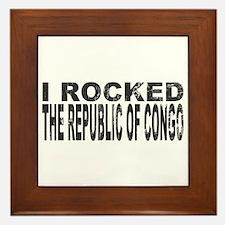 I Rocked Republic of Congo Framed Tile
