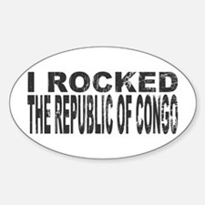 I Rocked Republic of Congo Oval Decal
