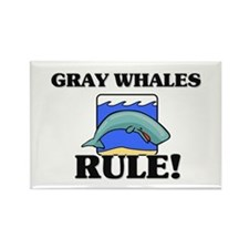 Gray Whales Rule! Rectangle Magnet