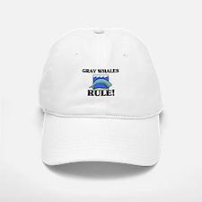 Gray Whales Rule! Baseball Baseball Cap
