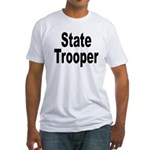 State Trooper (Front) Fitted T-Shirt
