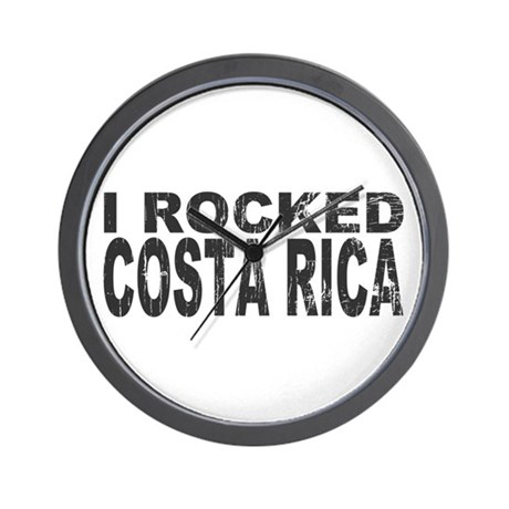 I Rocked Costa Rica Wall Clock
