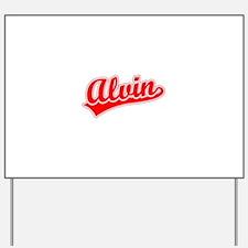 Retro Alvin (Red) Yard Sign
