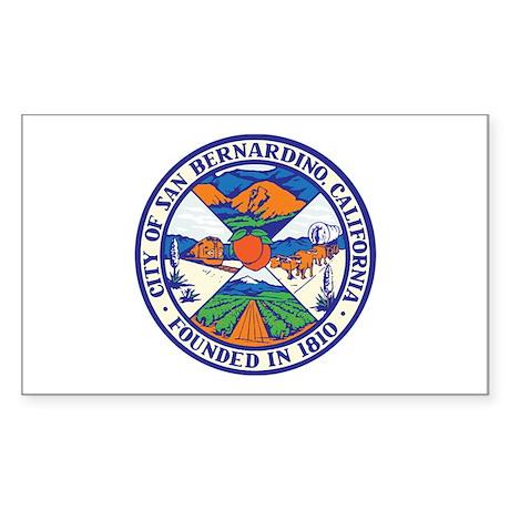 SAN-BERNARDINO-SEAL Rectangle Sticker
